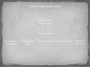 Проектные технологии Проектная деятельность Моделирование Летательных аппарат