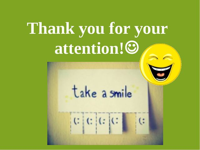 Thank you for your attention!