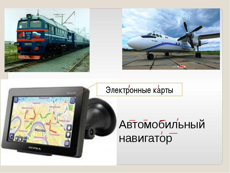 Автомобильный навигатор Электронные карты