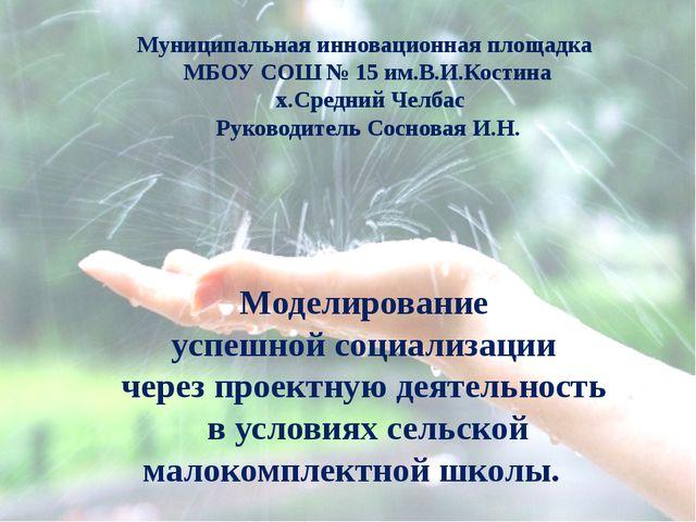 Муниципальная инновационная площадка МБОУ СОШ № 15 им.В.И.Костина х.Средний Ч...