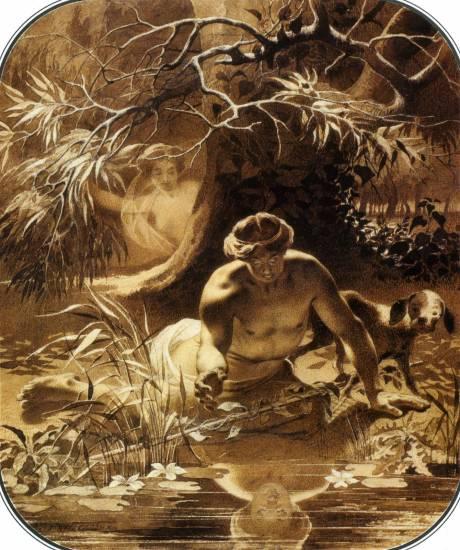 Нарціс та німфа Ехо, 1856