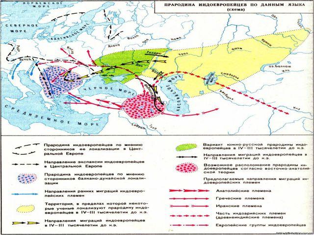 Однако прародиной индоевропейцев – является вовсе не территория полуострова И...
