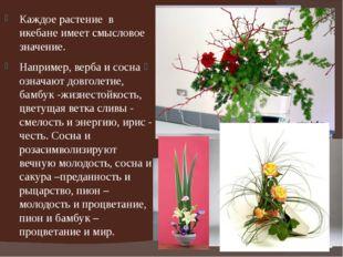 Каждое растение в икебане имеет смысловое значение. Например, верба и сосна о