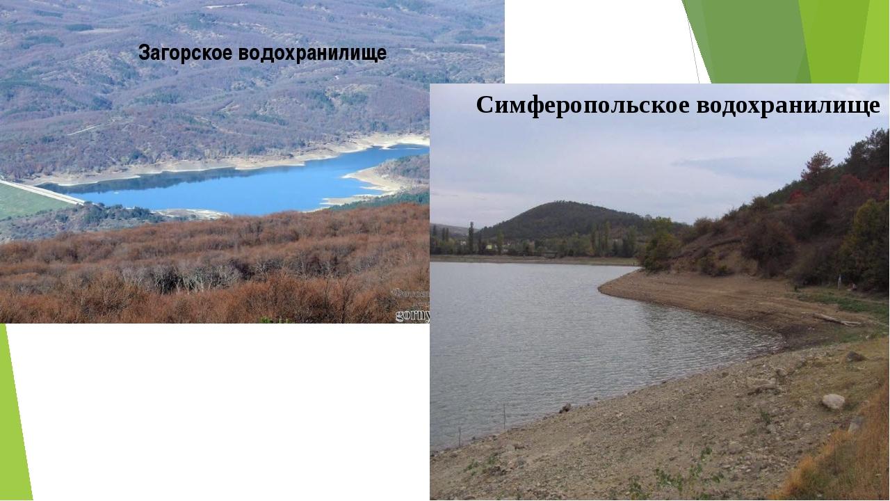 Загорское водохранилище Симферопольское водохранилище