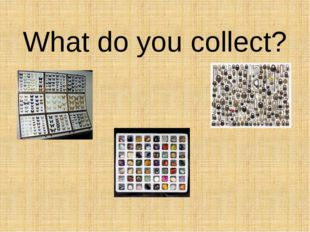 What do you collect?
