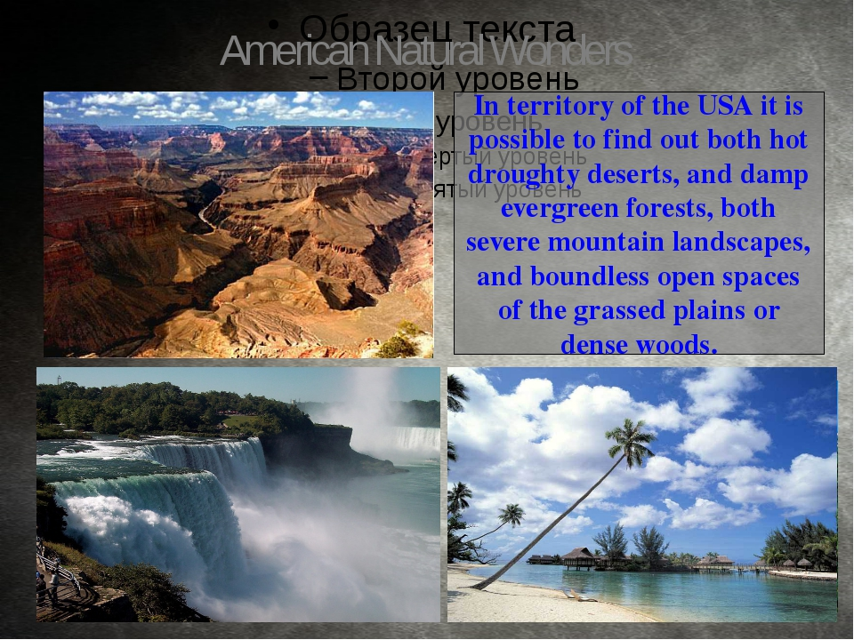 In territory of the USA it is possible to find out both hot droughty deserts,...