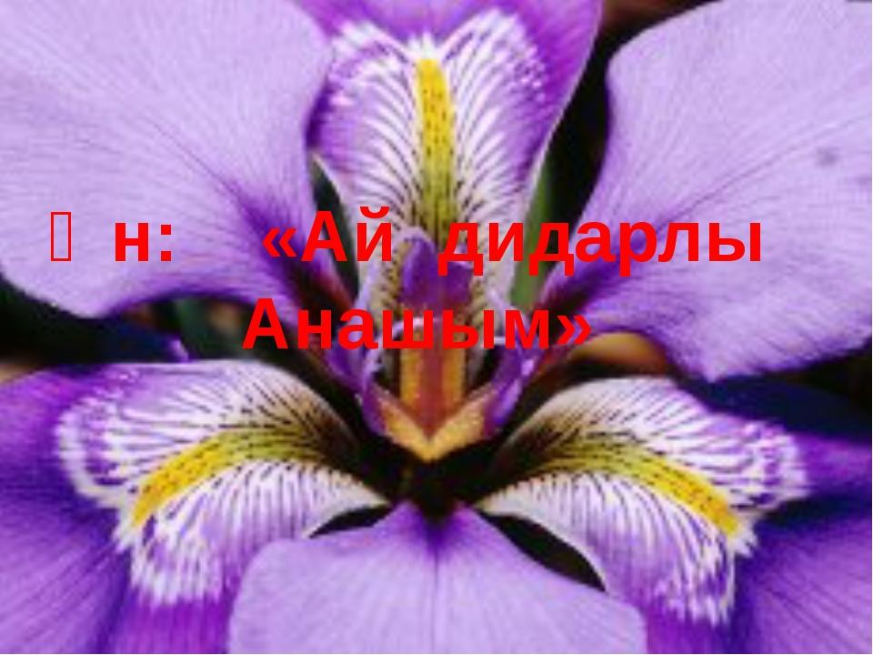 Ән: «Ай дидарлы Анашым»