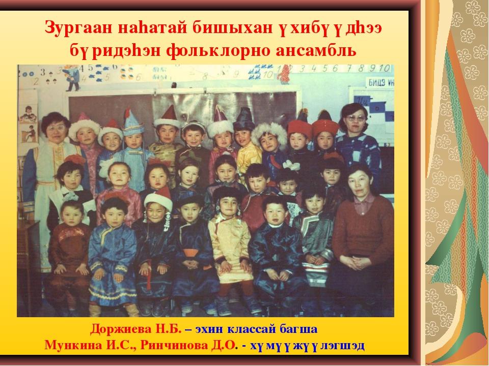 Зургаан наhатай бишыхан үхибүүдhээ бүридэhэн фольклорно ансамбль Доржиева Н.Б...