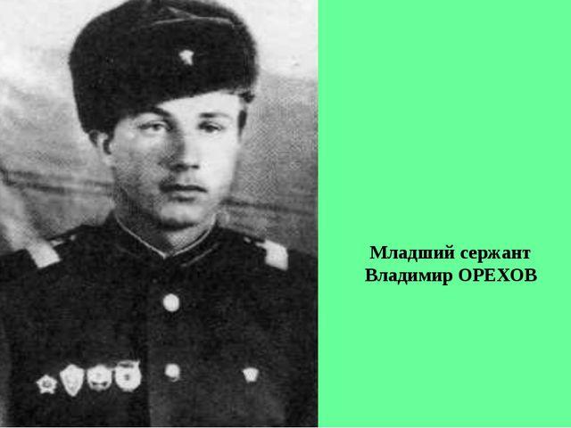Младший сержант Владимир ОРЕХОВ