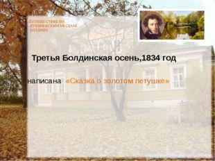 ПУТЕШЕСТВИЕ ПО ПУШКИНСКИМ МЕСТАМ. БОЛДИНО Третья Болдинская осень,1834 год н