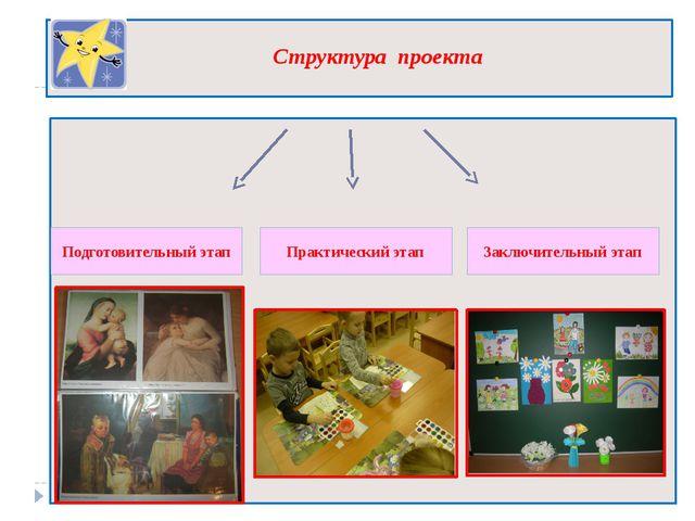 Структура проекта Подготовительный этап Практический этап Заключительный этап