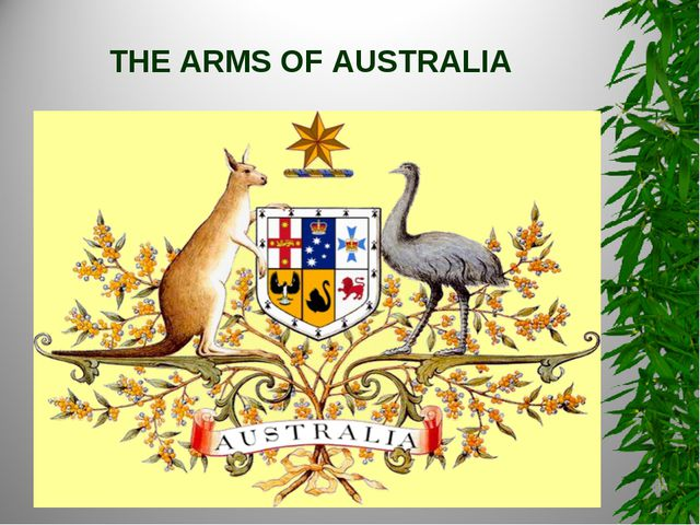 THE ARMS OF AUSTRALIA