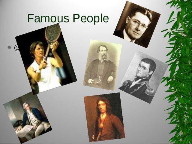 Famous People 