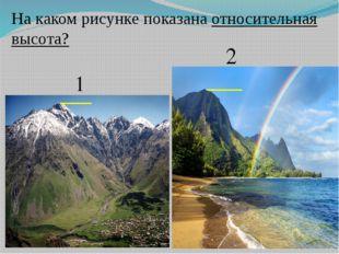 1 2 На каком рисунке показана относительная высота?
