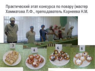 Практический этап конкурса по повару (мастер Хамматова Л.Ф., преподаватель Ко
