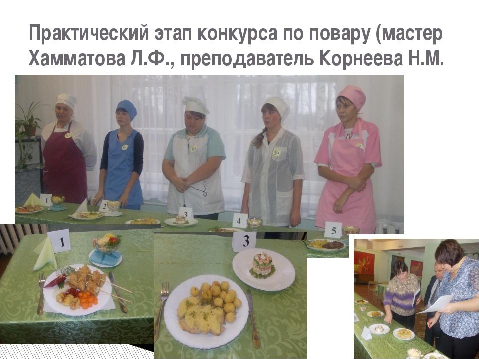 Практический этап конкурса по повару (мастер Хамматова Л.Ф., преподаватель Ко...