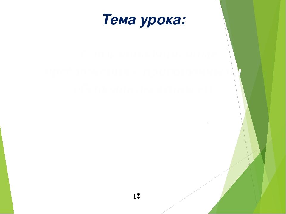 Тема урока: Сложноподчиненные предложения с придаточными обстоятельсвенными 