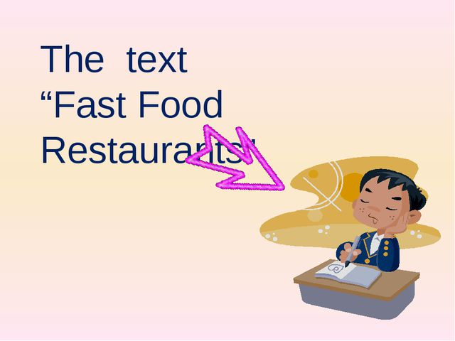 "The text ""Fast Food Restaurants"""
