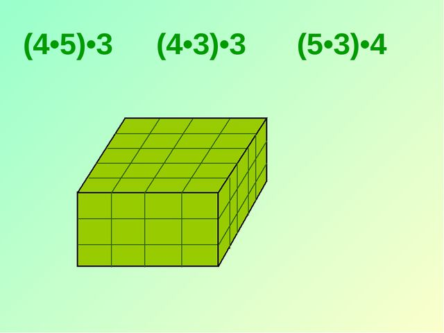 (4•5)•3 (4•3)•3 (5•3)•4