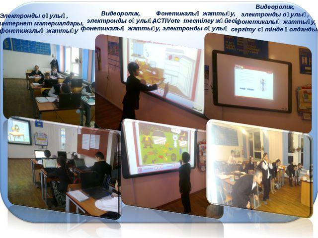Электронды оқулық, интернет материалдары, фонетикалық жаттығу Видеоролик, эле...
