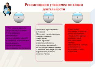 Рекомендации учащимся по видам деятельности 4 5 6 Сопоставлять полученные рез