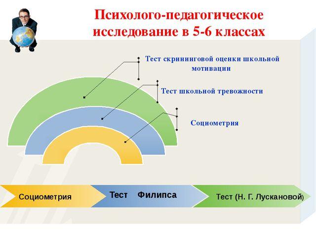 Психолого-педагогическое исследование в 5-6 классах Социометрия Тест Филипса...