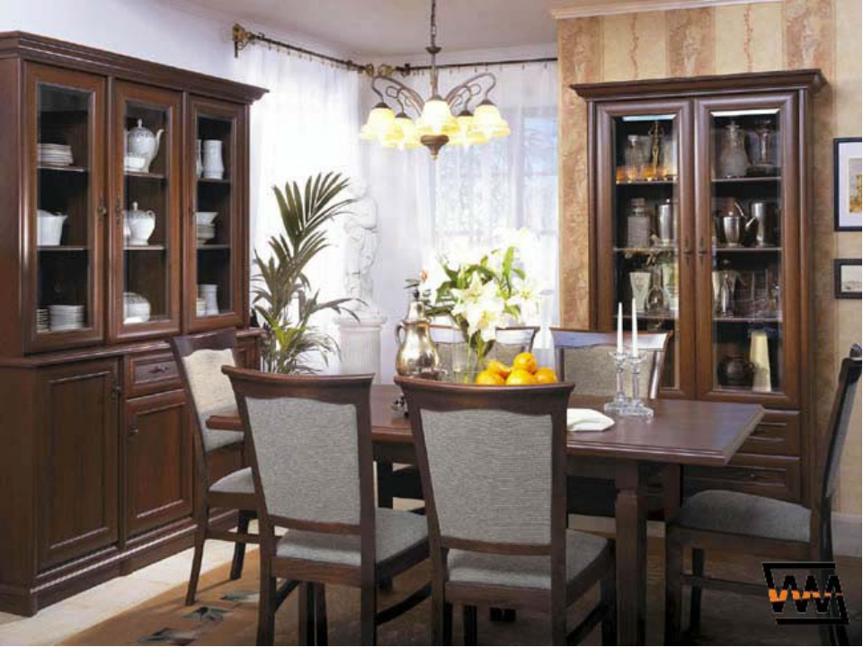 4. Families get together for the meal in this room. They have breakfast, lun...