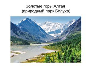 Золотые горы Алтая (природный парк Белуха)