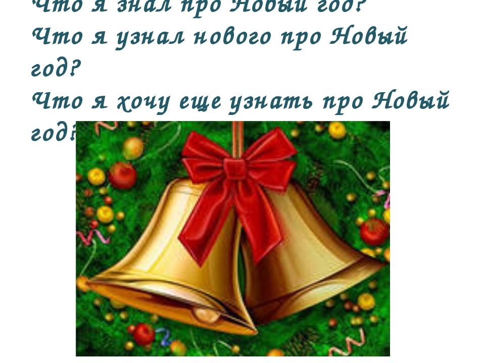 Что я знал про Новый год? Что я узнал нового про Новый год? Что я хочу еще уз...