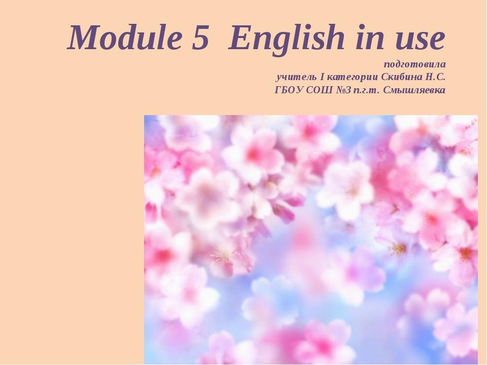 Module 5 English in use подготовила учитель I категории Скибина Н.С. ГБОУ СОШ...