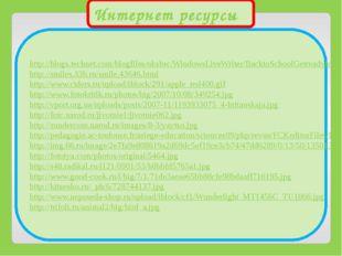 Интернет ресурсы http://blogs.technet.com/blogfiles/uksbsc/WindowsLiveWriter/