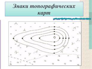Знаки топографических карт
