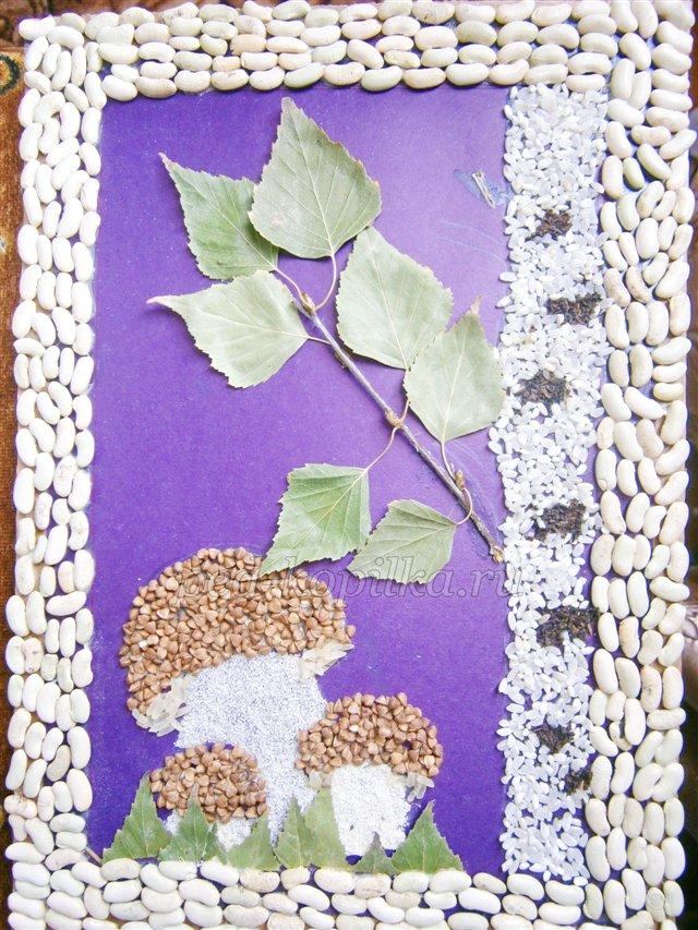 Аппликация из круп и семян. Мастер-класс