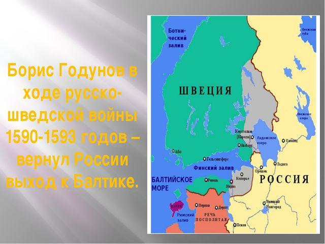 Борис Годунов в ходе русско-шведской войны 1590-1593 годов – вернул России вы...