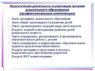 27.08.2015 Педагогическая деятельность по реализации программ дошкольного обр
