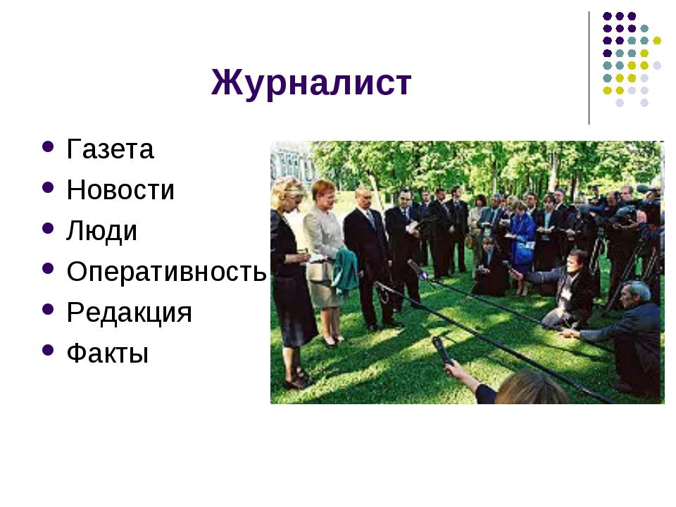 Журналист Газета Новости Люди Оперативность Редакция Факты