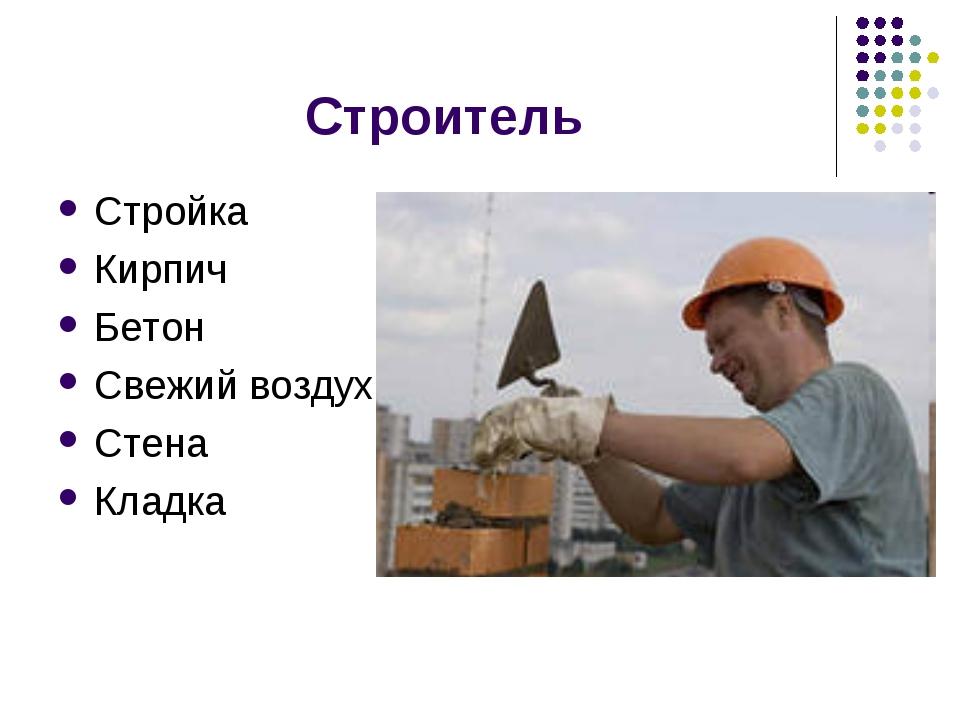 Строитель Стройка Кирпич Бетон Свежий воздух Стена Кладка