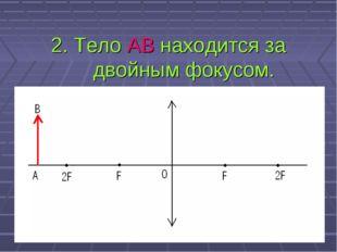 2. Тело АВ находится за двойным фокусом.