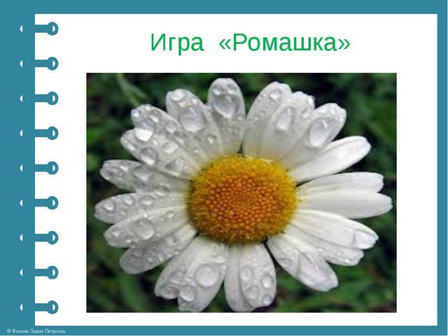 Игра «Ромашка» © Фокина Лидия Петровна