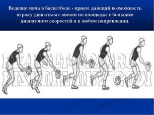 Ведение мяча в баскетболе - прием дающий возможность игроку двигаться с мячом