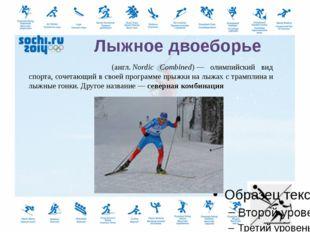 Cкелетон (англ.skeleton— скелет, каркас)— зимний олимпийский вид спорта,