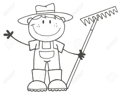 http://previews.123rf.com/images/chudtsankov/chudtsankov1009/chudtsankov100900132/7849264-Outlined-Farmer-Boy-Holding-A-Rake-And-Waving--Stock-Vector-coloring.jpg