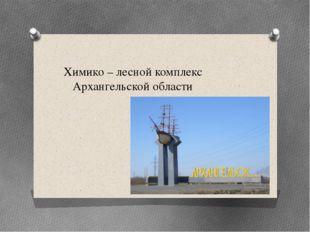 Химико – лесной комплекс Архангельской области