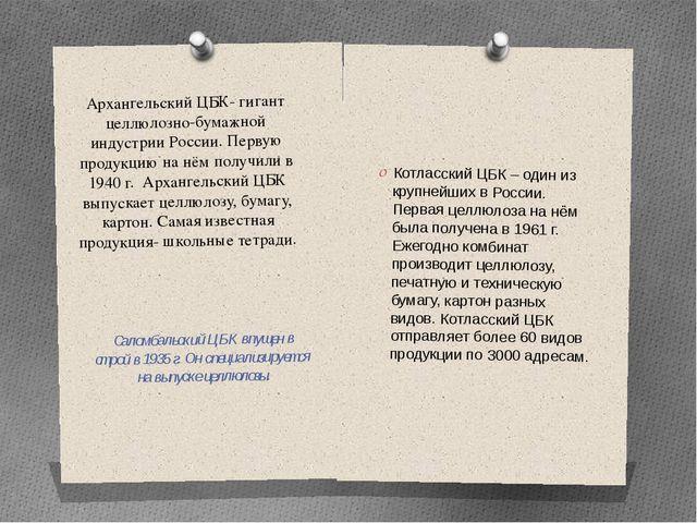 Архангельский ЦБК- гигант целлюлозно-бумажной индустрии России. Первую продук...