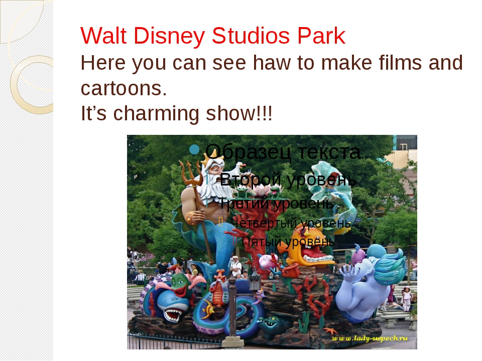 Walt Disney Studios Park Here you can see haw to make films and cartoons. It'...