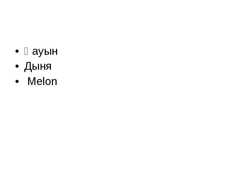 Қауын Дыня Melon