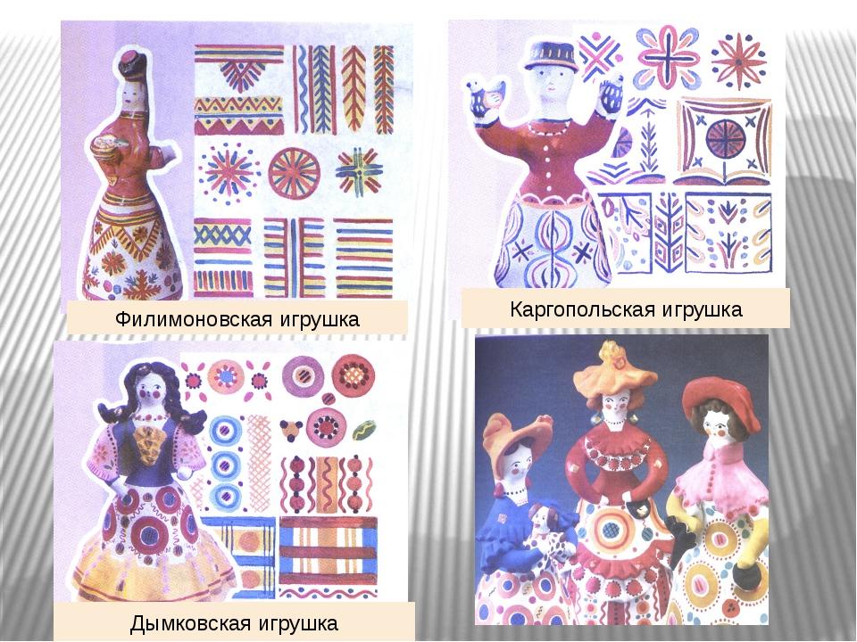 Филимоновская игрушка Дымковская игрушка Каргопольская игрушка