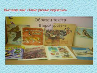 Выставка книг «Такие разные пернатые»