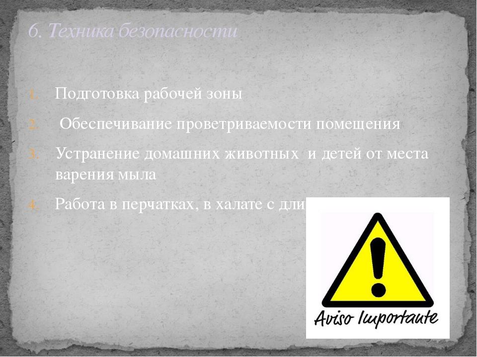 Подготовка рабочей зоны Обеспечивание проветриваемости помещения Устранение д...
