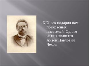 XIX век подарил нам прекрасных писателей. Одним из них является Антон Павлов